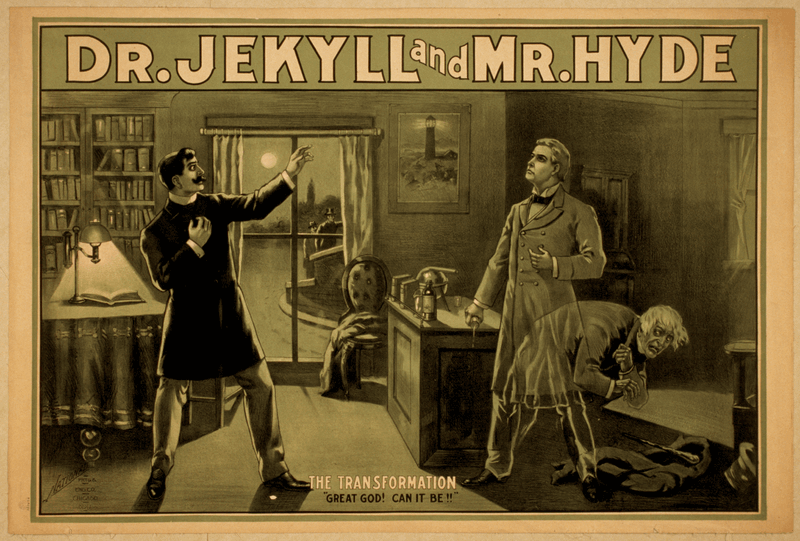Cartel de Dr Jekyll y Mr Hyde