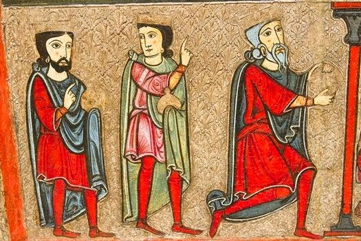 cuadro medieval simbolizando el el círculo del 99