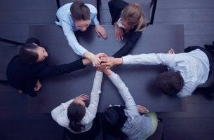 Equipo de trabajo unido