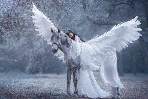 Hada con un unicornio