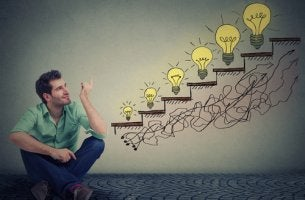 Hombre emprendedor pensando ideas