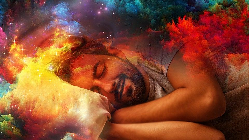 hombre durmiendo representando cuando no recordamos los sueños