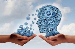 Mente con mecanismos para representar la psiquiatría
