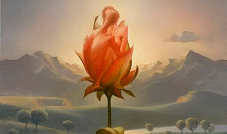 flor simbolizando la evolución del amor en la pareja