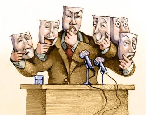 Político con muchas máscaras