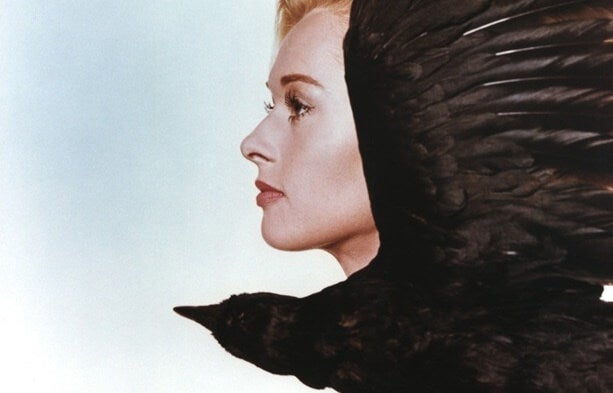 Escena de los pájaros de Alfred Hitchcock