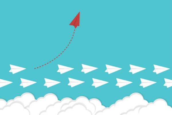 avión rojo ascendiendo simbolizando cómo cambiar un hábito