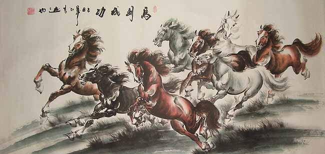caballos simbolizando fábula china
