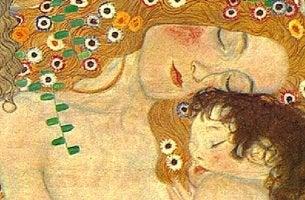 cuadro de gustav klimt con madre e hijo simbolizando los tipos de apego