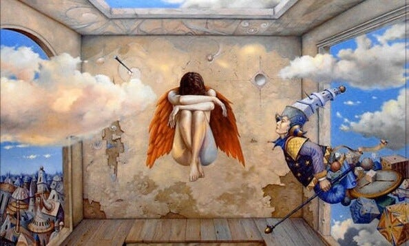 figura alada simbolizando la psicología de la alquimia de Jung