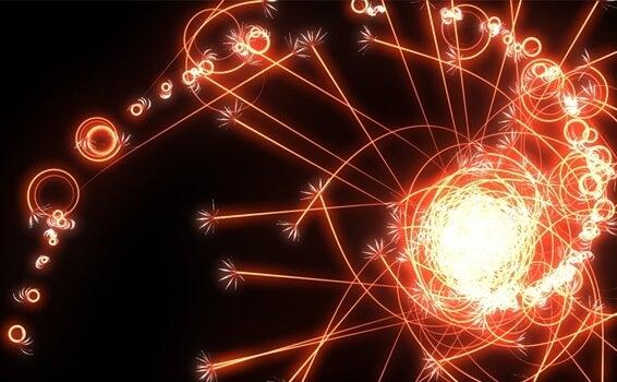 figuras de luz simbolizando la la teoría del caos