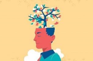 hombre con flores en la cabeza simbolizando a las manejan las personas inteligentes a las personas tóxicas