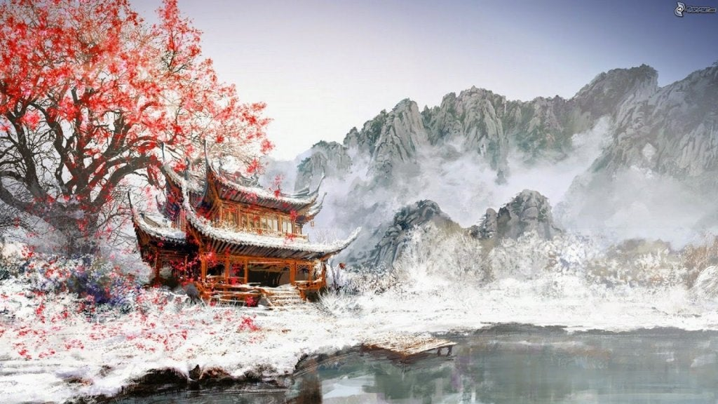 casa oriental simbolizando fábula china