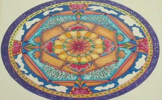 mandala simbolizando el el secreto de la flor de oro