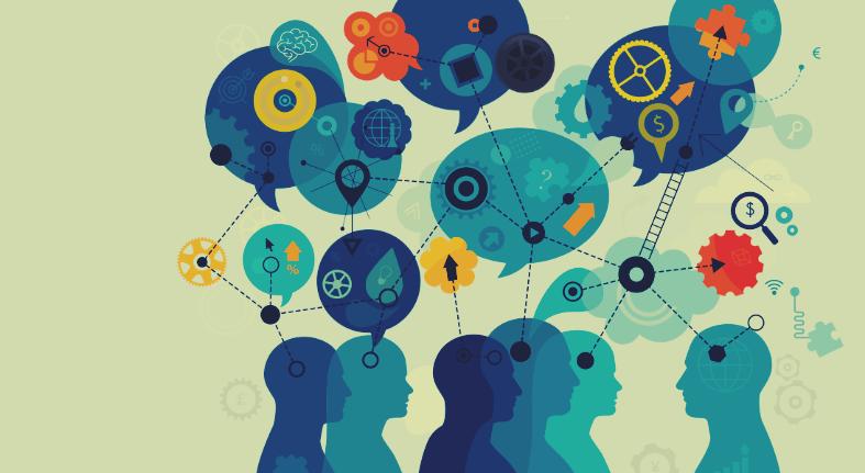personas conectadas desarrollando su inteligencia
