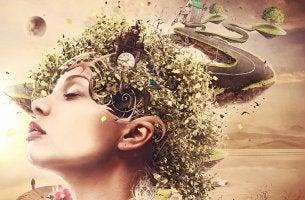 mujer con caminos y naturaleza simbolizando ayudar a alguien con ansiedad