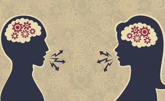 pareja hablando simbolizando mantener una buena conversación