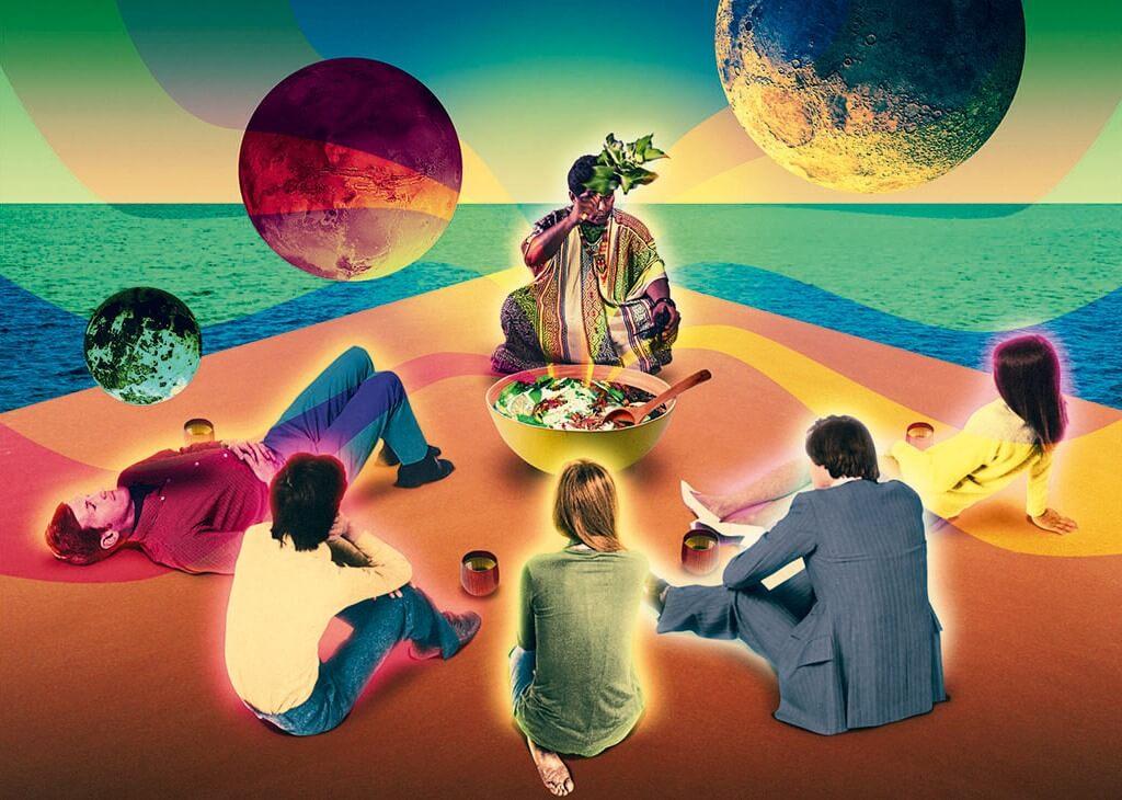 personas en grupo tomando ayahuasca