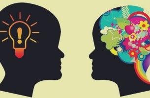 cabezas simbolizando el ejes de las habilidades sociales