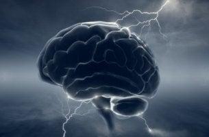 Cerebro con rayos