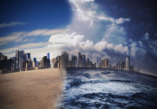 Ciudad afectada por el cambio climático