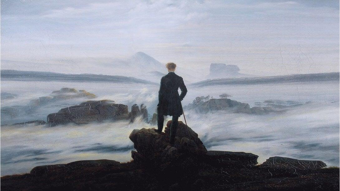 cuadro de Caspar Friedrich simbolizando las frases de Alexander Pushkin