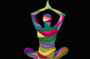 figura ejercitando la meditación vipassana