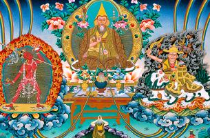 imagen budista simbolizando los dharmas mundanos