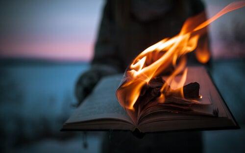 Libro quemándose