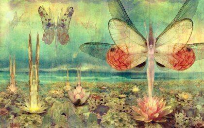 Mujeres mariposa simbolizando cómo ser como el bambú