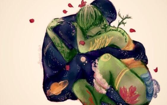 pareja abrazada que quiere aprender a amar