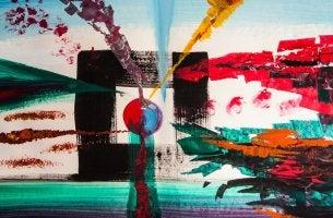 Pintura abstracta para representar el arte marginal