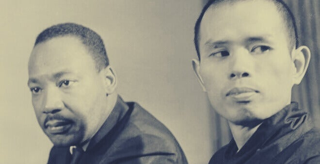Thich Nhat Hanh y Martin Luther King