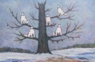 árbol simbolizando el sueño de el hombre de los lobos