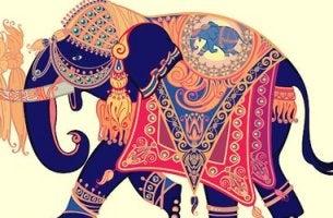 elefante de colores simbolizando una historia para pensar