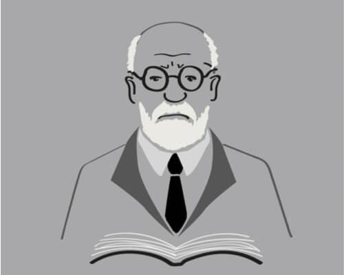 Freud con un libro
