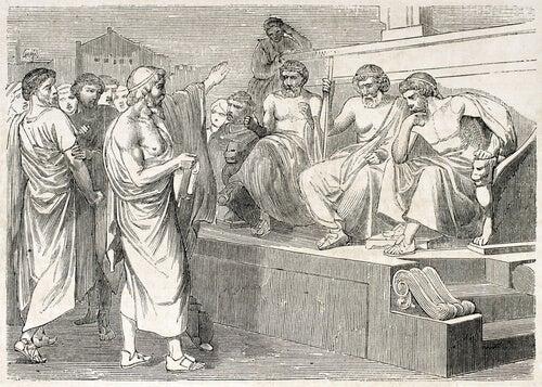 Griegos hablando