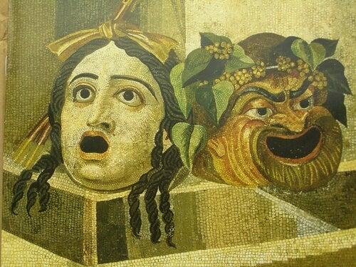Máscaras de teatro griego