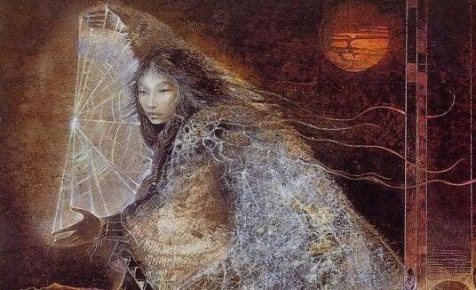 mujer arañan y el cazador de sueños