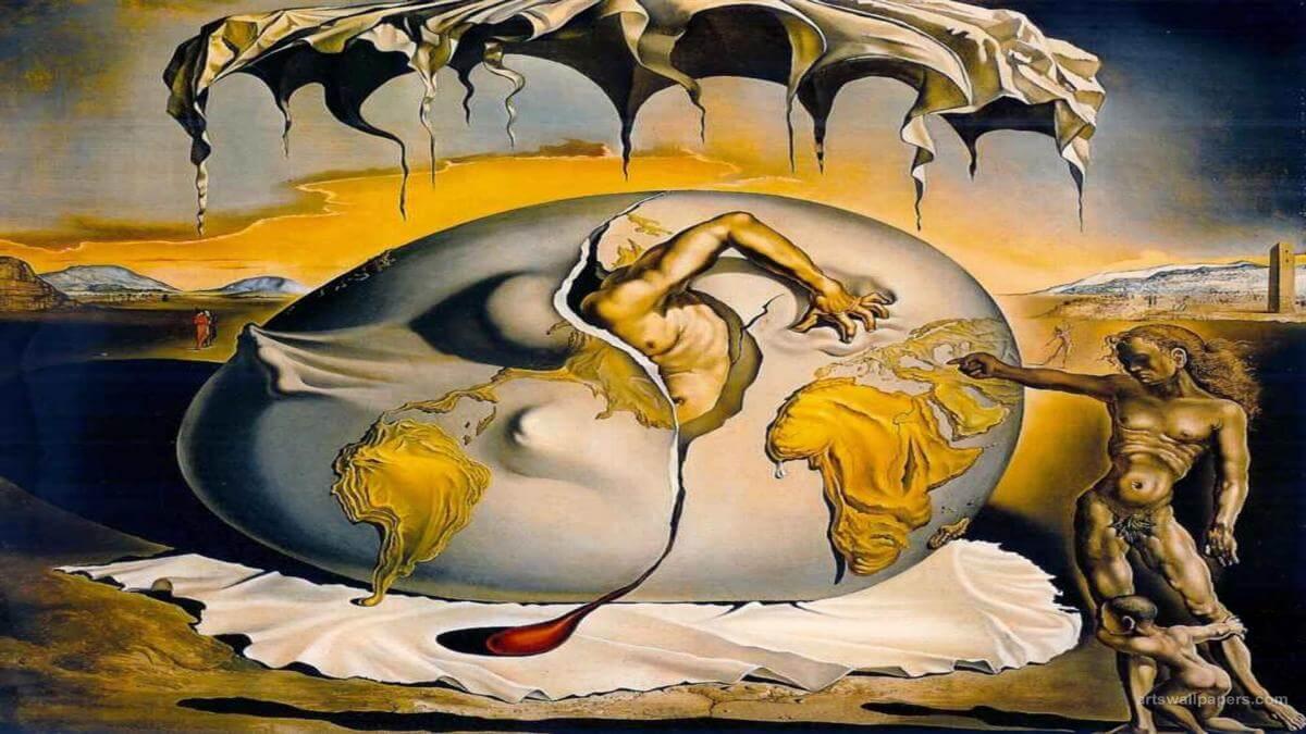 Cuadro de Salvador Dalí para representar la relación entre el arte surrealista y el psicoanálisis