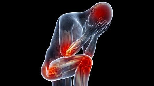 figura con dolor simbolizando los síntomas físicos de la depresión