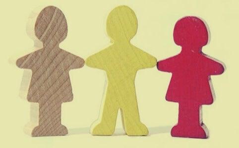 figuras simbolizando el acompañamiento terapéutico