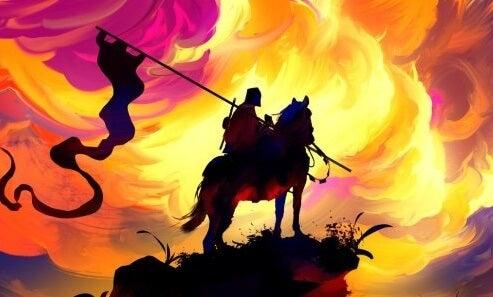 héroe a caballo simbolizando las teorías de Joseph Campbell