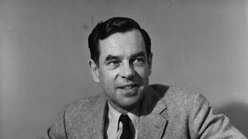 Fotografía de Joseph Campbell en blanco y negro