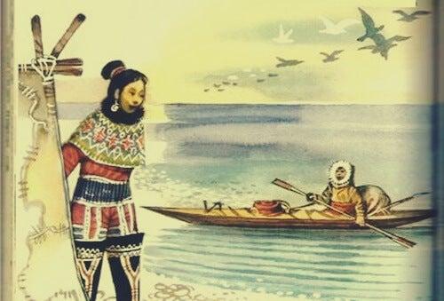 esquimal simbolizando el mito de los esquimales