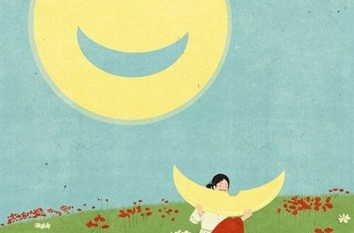 Luna con una sonrisa