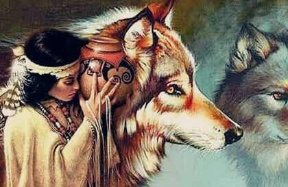 La mujer y los lobos, una bella leyenda Dakota