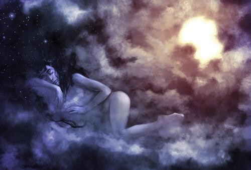 Mujer soñando