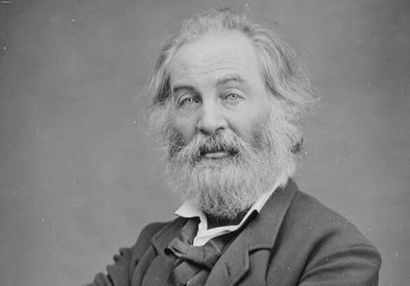 retrato simbolizando las frases de Walt Whitman