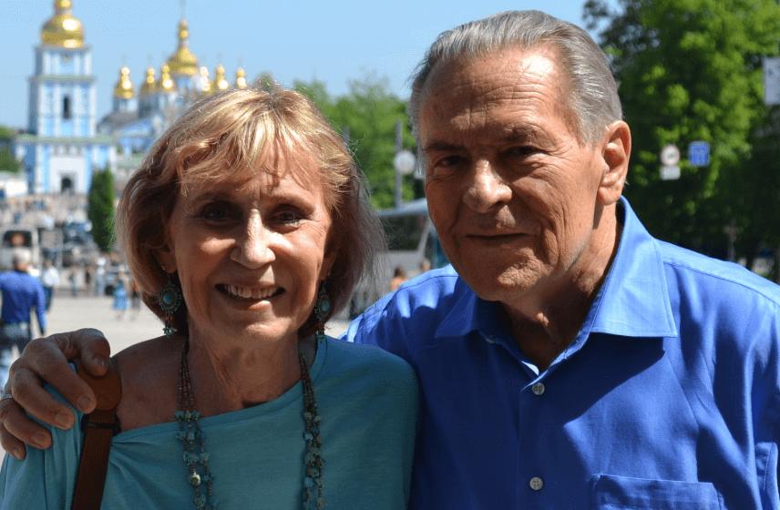 Christina Grof con su marido